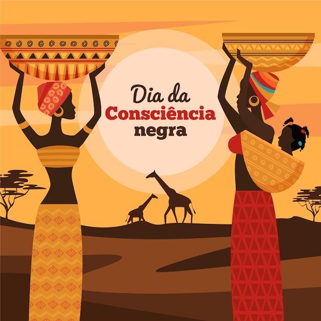 Design Plat Dia Da Consciencia Negra Vecteur gratuit