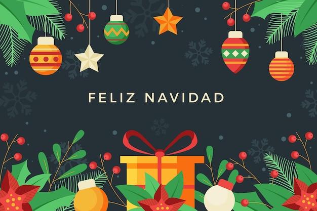 Design Plat Feliz Navidad Vecteur gratuit