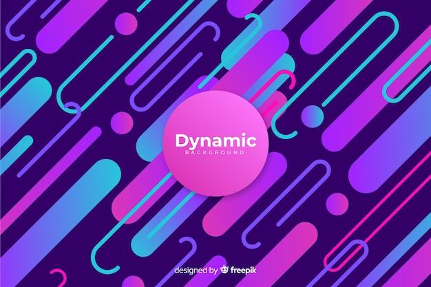 Design plat fond dégradé dynamique Vecteur gratuit