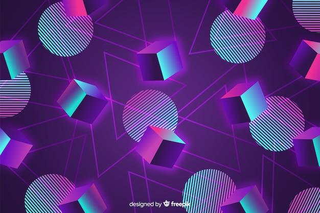 Design plat de fond géométrique des années 80 Vecteur gratuit