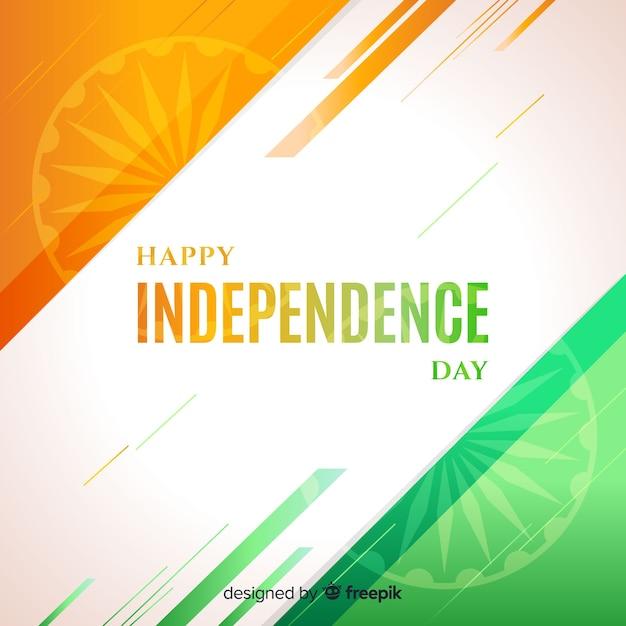 Design plat de fond inde fête de l'indépendance Vecteur gratuit
