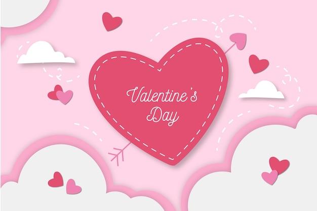 Design Plat De Fond Saint Valentin Vecteur Premium