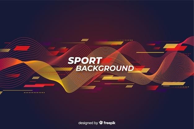 Design plat de fond sport abstrait Vecteur gratuit