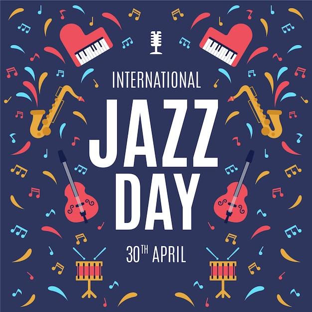 Design Plat International Jazz Day Vecteur gratuit