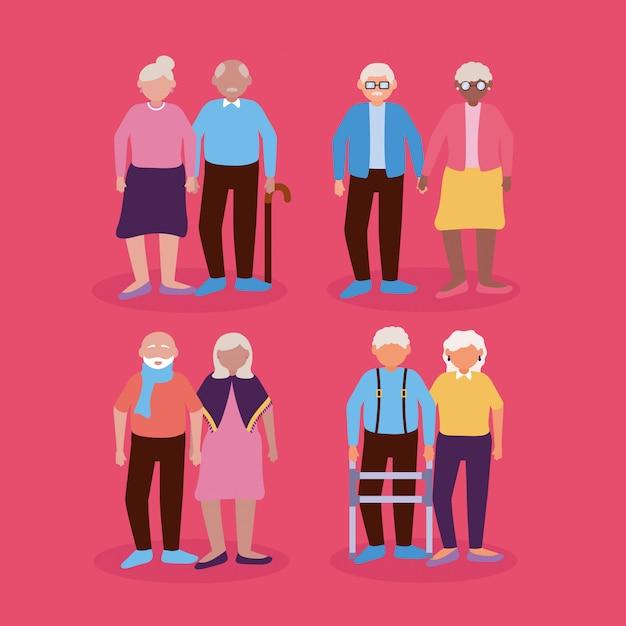 Design Plat Jour Heureux De Grands-parents Vecteur gratuit