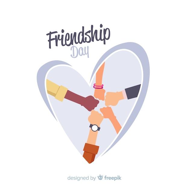 Design Plat De La Journée De L'amitié Vecteur gratuit