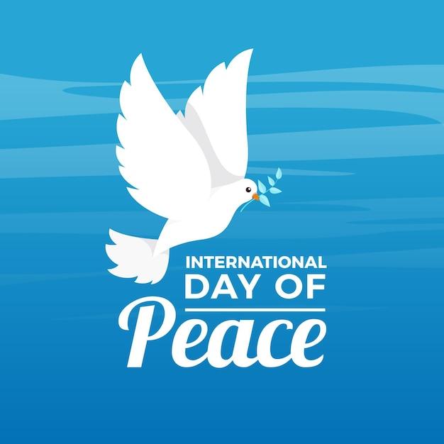 Design Plat Journée Internationale Du Concept De Paix Vecteur gratuit