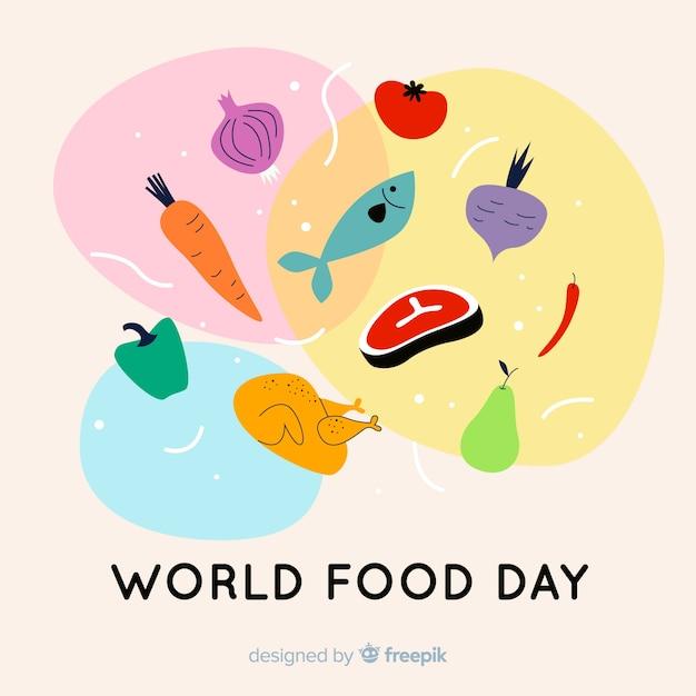 Design plat de la journée mondiale de l'alimentation Vecteur gratuit