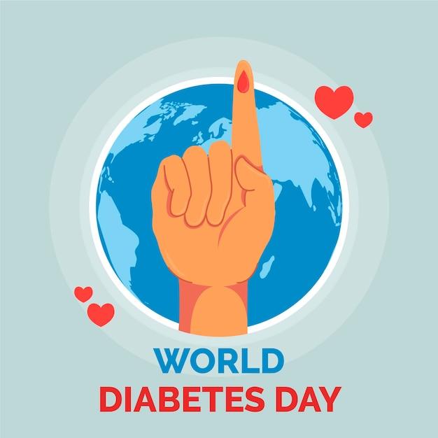 Design Plat De La Journée Mondiale Du Diabète Vecteur gratuit