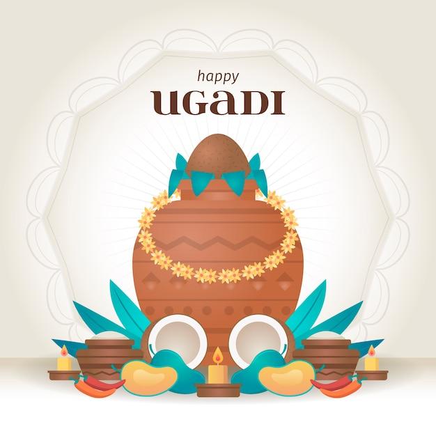 Design Plat Joyeux Ougadi Vecteur gratuit