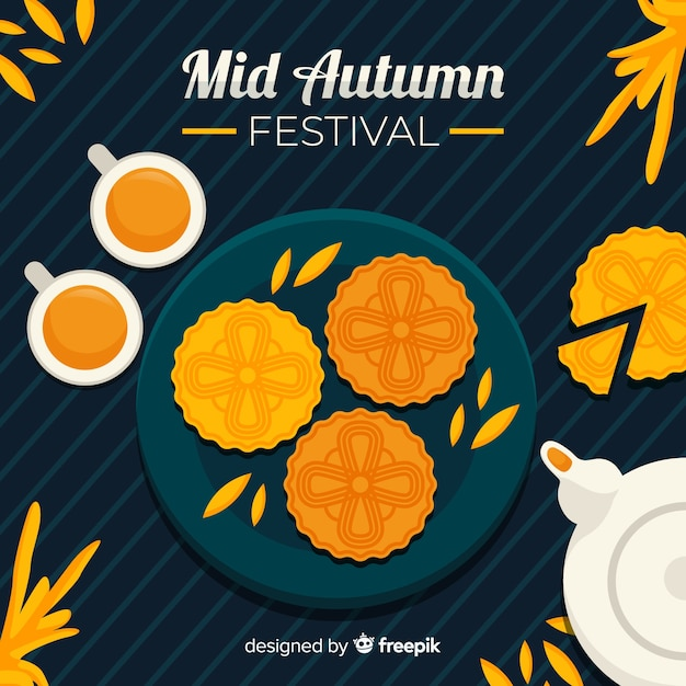 Design plat mi festival d'automne Vecteur gratuit