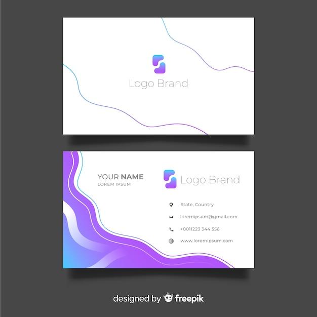 Design plat de modèle de carte de visite Vecteur gratuit