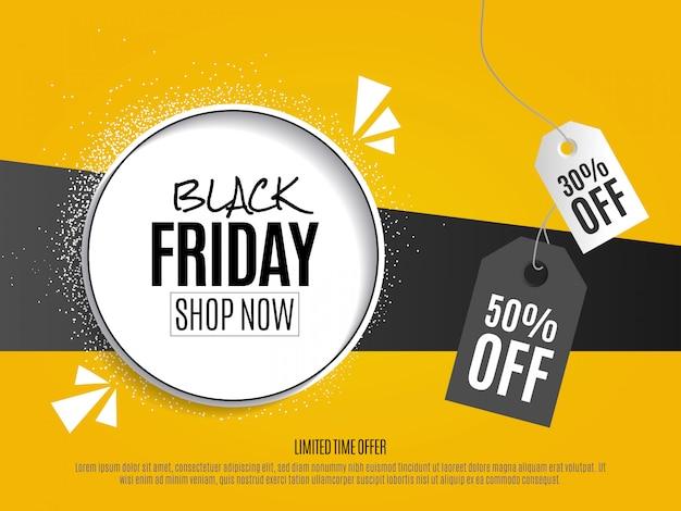 Design plat de modèle de flyer vendredi noir Vecteur Premium
