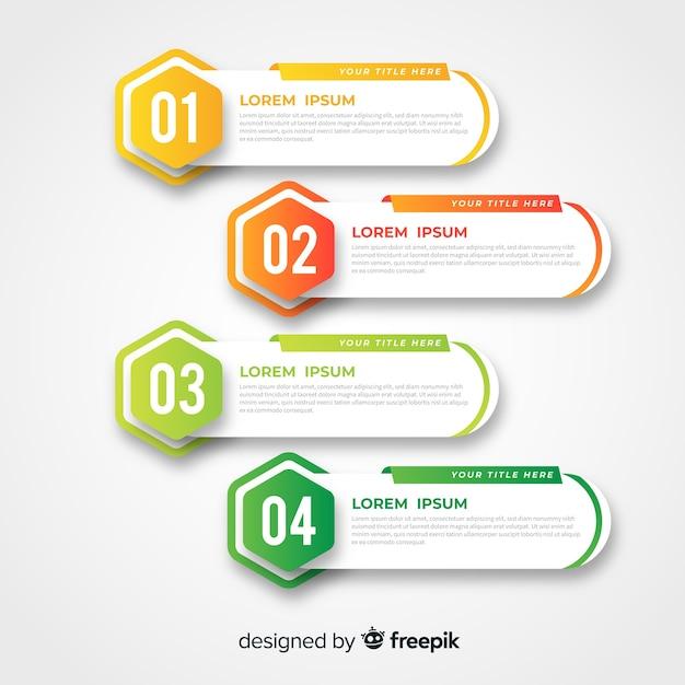 Design plat modèle infographie coloré Vecteur gratuit