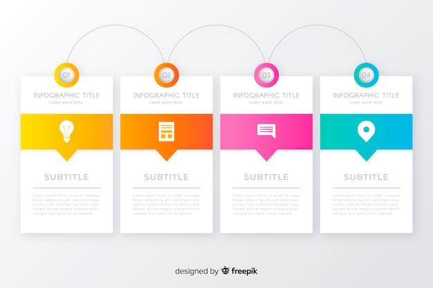 Design plat modèle infographie timeline Vecteur gratuit