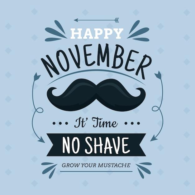 Design Plat Movember Aucun Fond De Rasage Vecteur gratuit