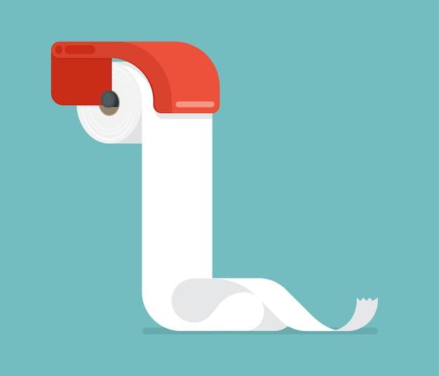 Design Plat De Papier Toilette. Vecteur Premium