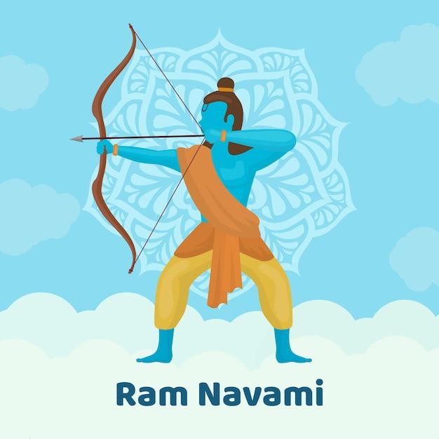 Design Plat Pour L'événement Ram Navami Vecteur gratuit
