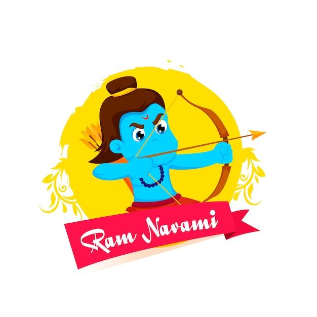 Design Plat Ram Navami Celebration Vecteur gratuit