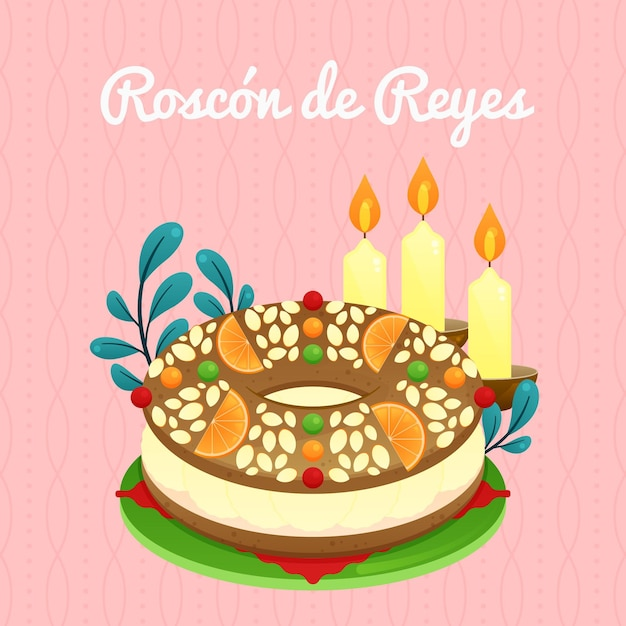 Design Plat Roscon De Reyes Vecteur gratuit