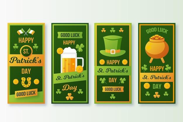Design Plat St. Histoires Instagram De Patrick's Day Vecteur gratuit