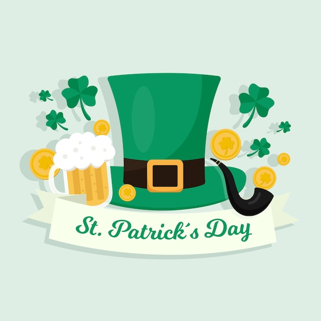 Design Plat St Patricks Day Concept Vecteur gratuit