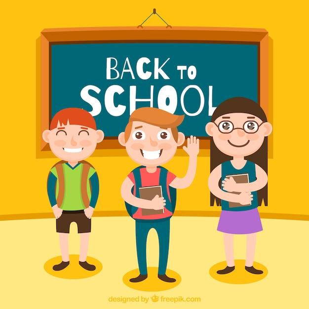 Design de retour à l'école avec des écoles scolaires intelligentes Vecteur gratuit