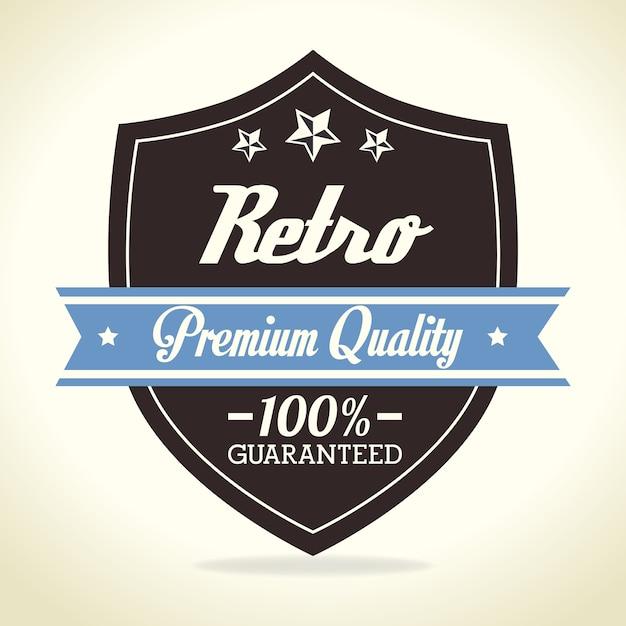 Design rétro vintage. Vecteur Premium
