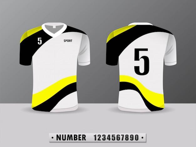 Design Sport Sport Club De Football Noir Et Jaune. Vecteur Premium