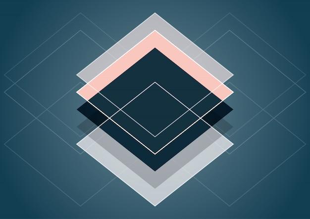 Design de style abstrait scandinave Vecteur gratuit