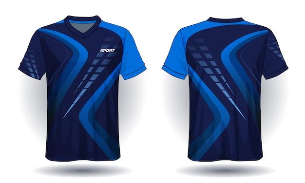 Design de t-shirt de sport en jersey de football Vecteur Premium