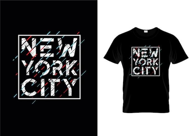 Design De T-shirts Typographiques De New York City Vecteur Premium