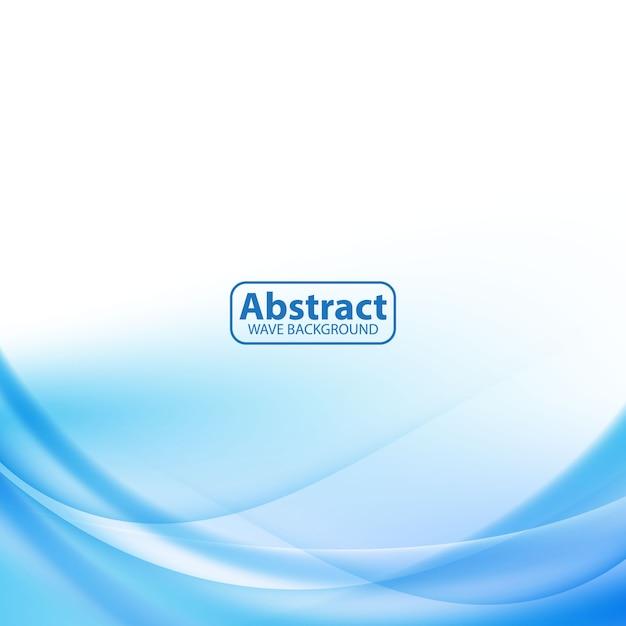 Design vague moderne bleu abstrait doux Vecteur Premium