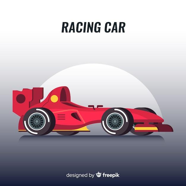 Design de voiture de course de formule 1 moderne Vecteur gratuit