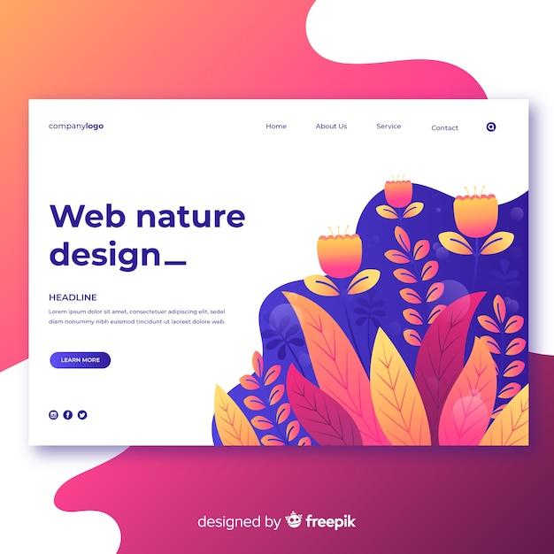 Design web nature dégradé Vecteur gratuit