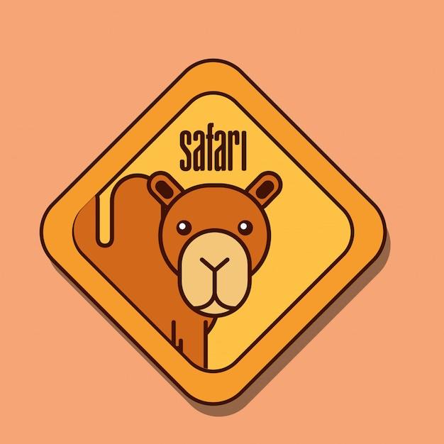 Dessin animé animaux safari Vecteur Premium