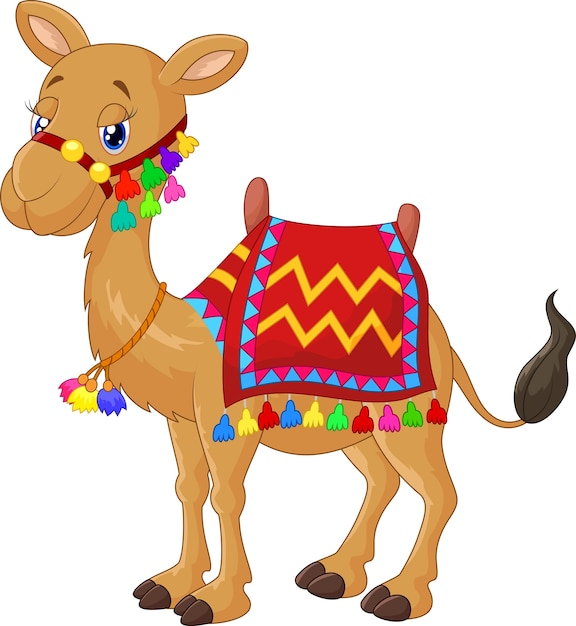 Dessin animé de chameau Vecteur Premium