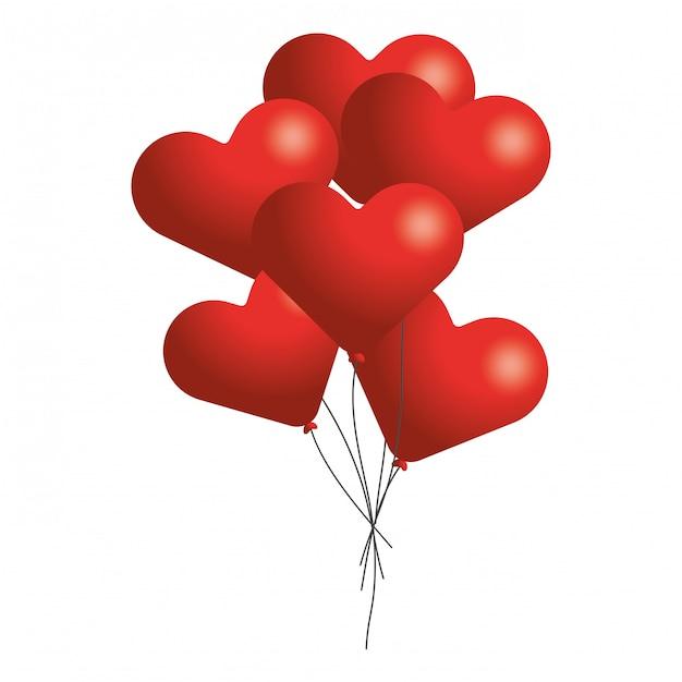 Dessin Anime Coeur Saint Valentin Vecteur Premium
