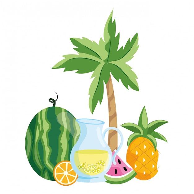 Dessin Animé Délicieux Jus De Fruits Télécharger Des