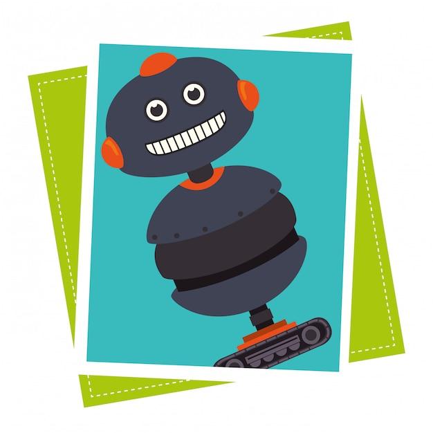 Dessin Animé Drôle De Robot Vecteur gratuit