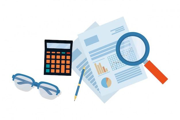 Dessin animé de finances personnelles Vecteur Premium
