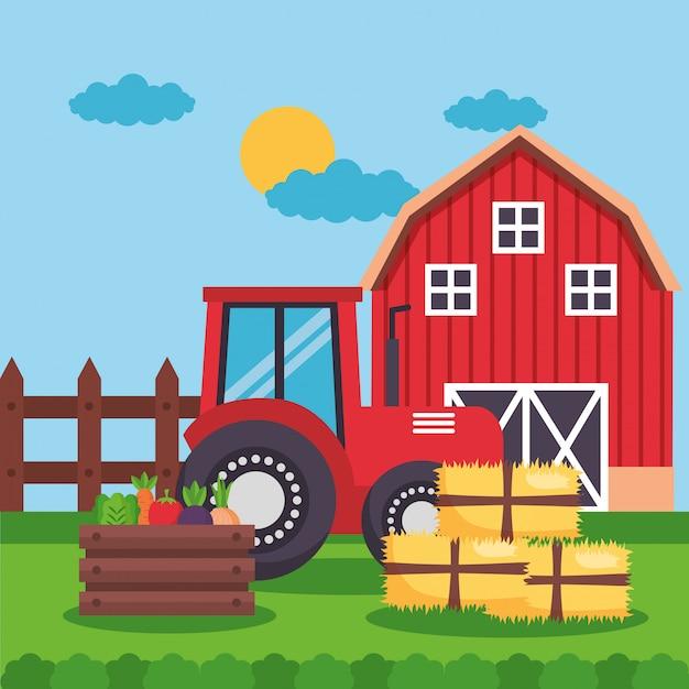 Dessin animé frais de ferme Vecteur gratuit