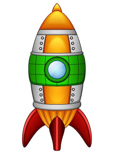 Dessin anim fus e vaisseau spatial isol sur fond blanc t l charger des vecteurs premium - Dessin vaisseau spatial ...