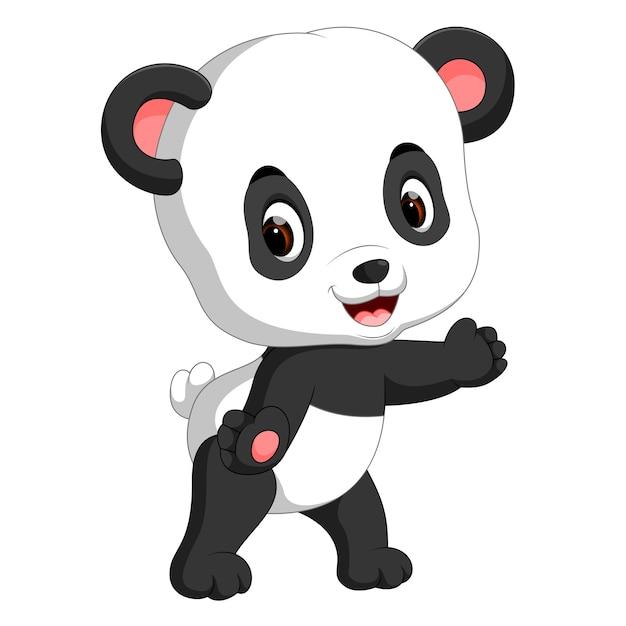 Dessin Animé Mignon Bébé Panda Télécharger Des Vecteurs