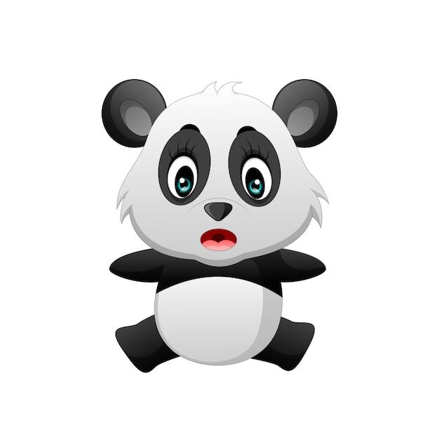 Dessin Anime Mignon De Bebe Panda Telecharger Des Vecteurs Premium