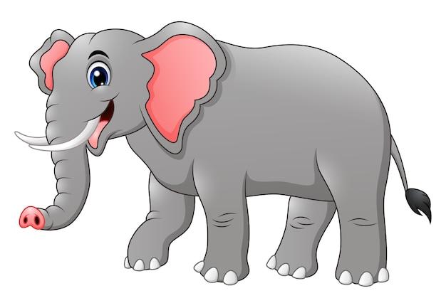 Dessin anim mignon l phant t l charger des vecteurs premium - Dessin d un elephant ...