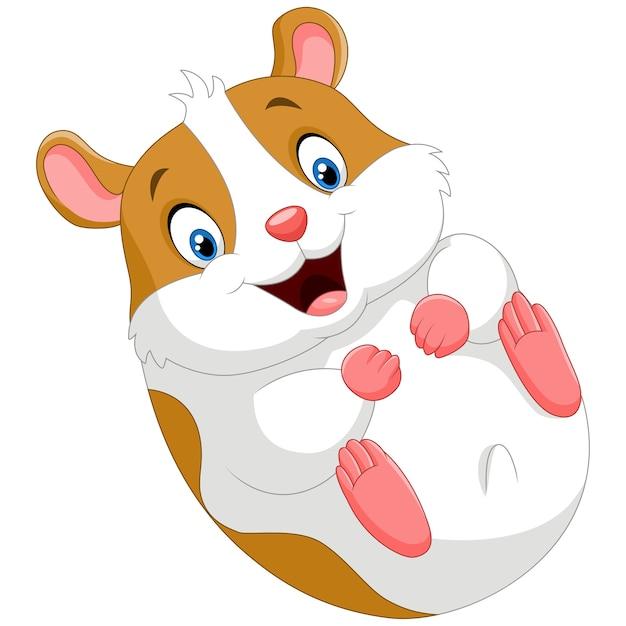 Dessin anim mignon hamster t l charger des vecteurs premium - Hamster dessin anime ...