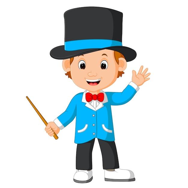 Dessin animé mignon de magicien   Télécharger des Vecteurs ...
