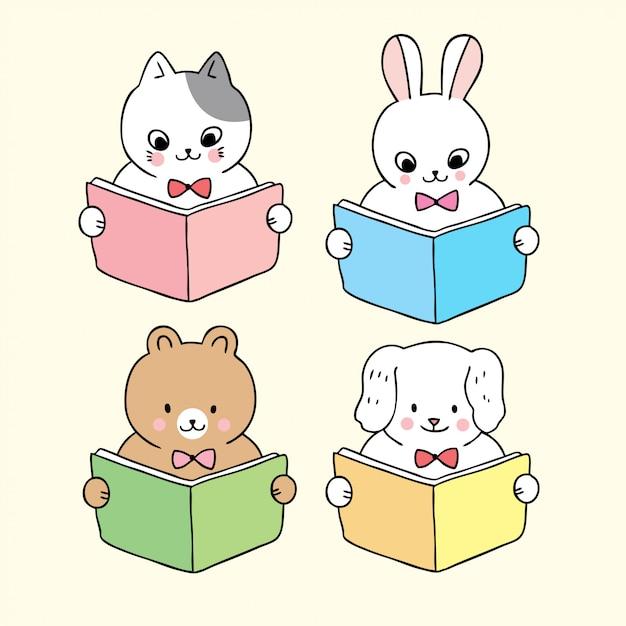 Dessin Anime Mignon Retour Aux Livres Scolaires Livre De