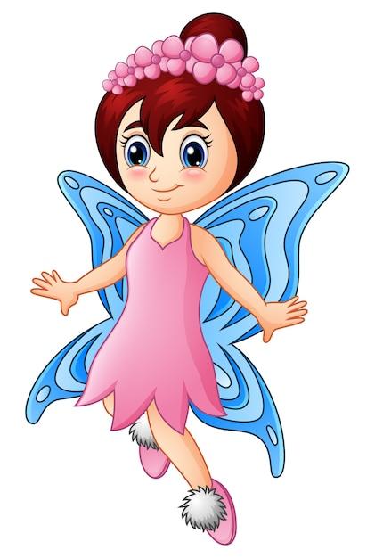 Dessin Animé Petite Fille Fée Papillon Télécharger Des